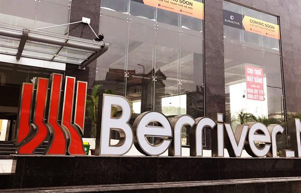 chữ inox tòa nhà Berriver