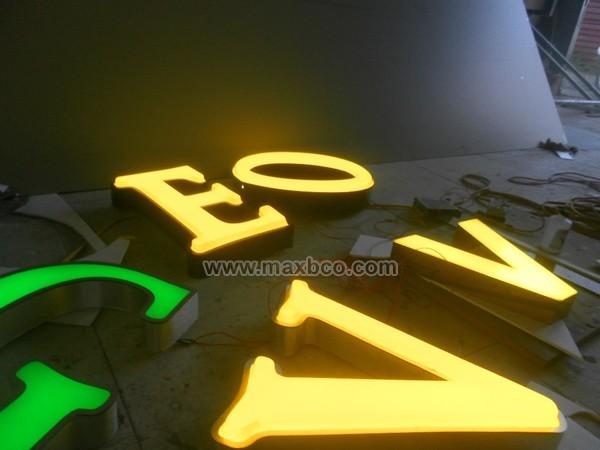 Chữ mica đèn led, làm chữ quảng cáo, nhận làm biển quảng cáo