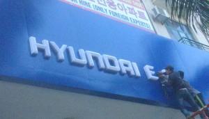 Biển/chữ Hút nổi 3D Huyndai