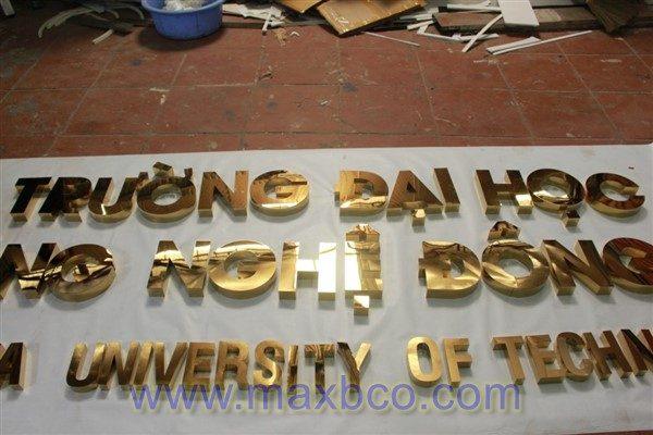 Biển quảng cáo chữ nổi đại học Đông Á