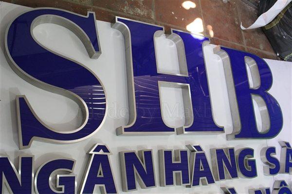 Gia công logo,bộ chữ Ngân Hàng SHB
